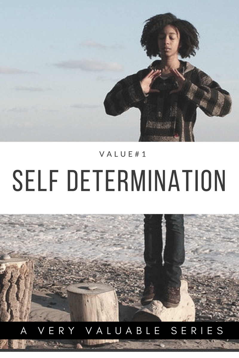 The first value I will be investing in is SELF DETERMINATION