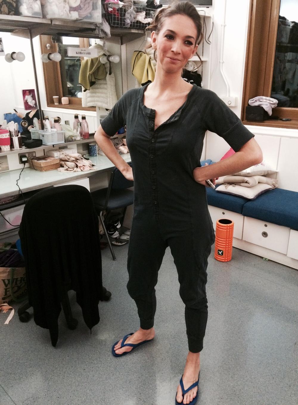 Lara in American Apparel onesie