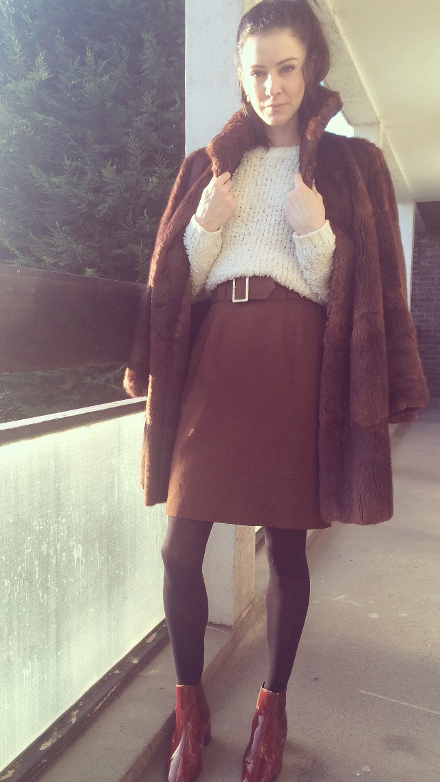 The Coat- Was my Nans!  Skirt- Vintage Boots-  http://www.topshop.com/
