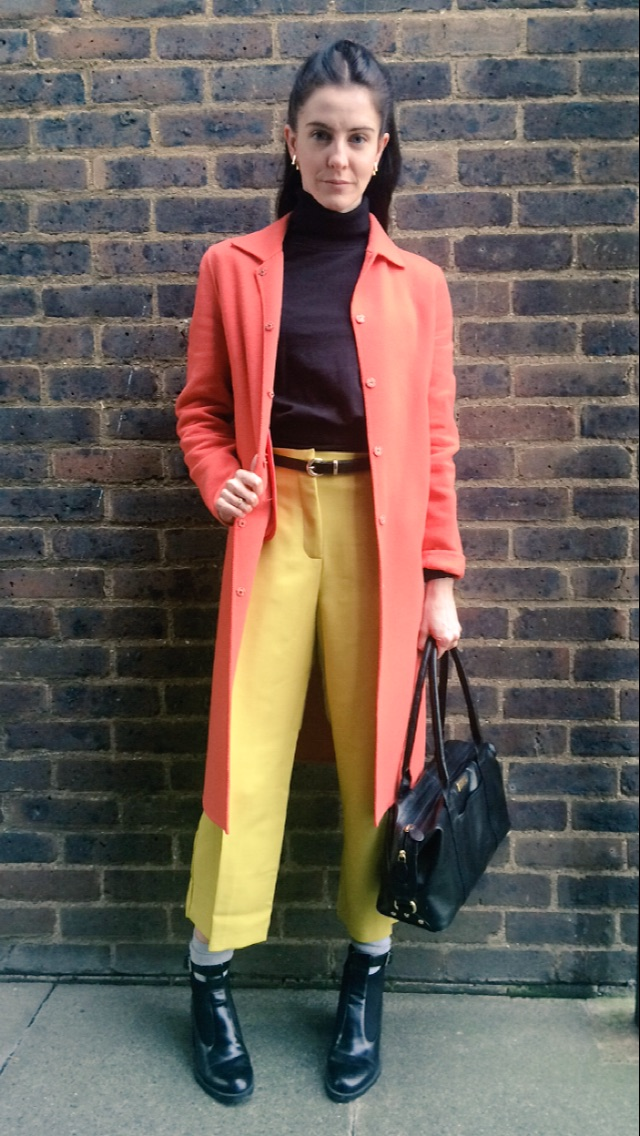 The Coat-  http://gb.maxmara.com Trousers-  http://m.asos.com