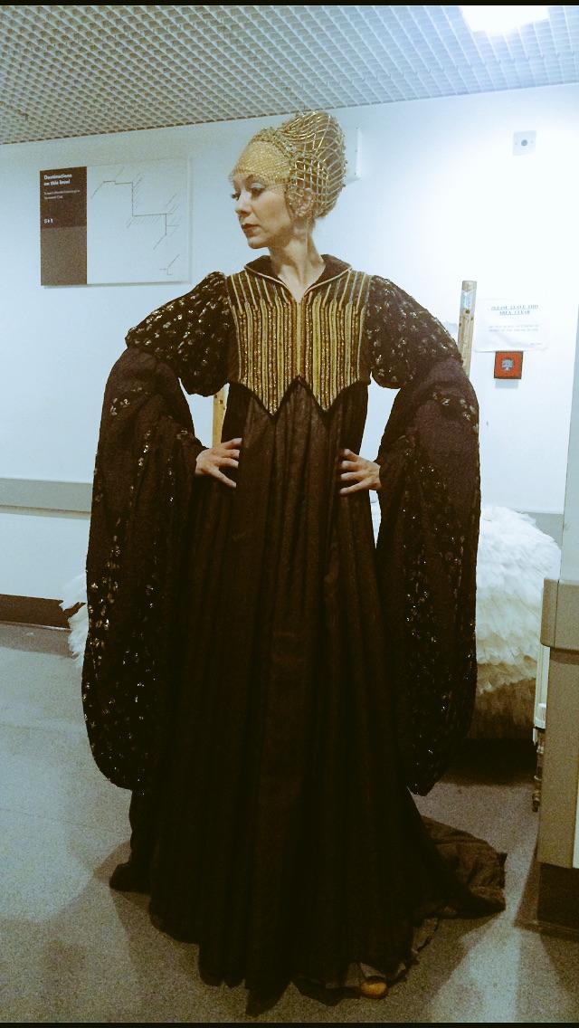 Sian in 'Hunt'.  The waistcoat.