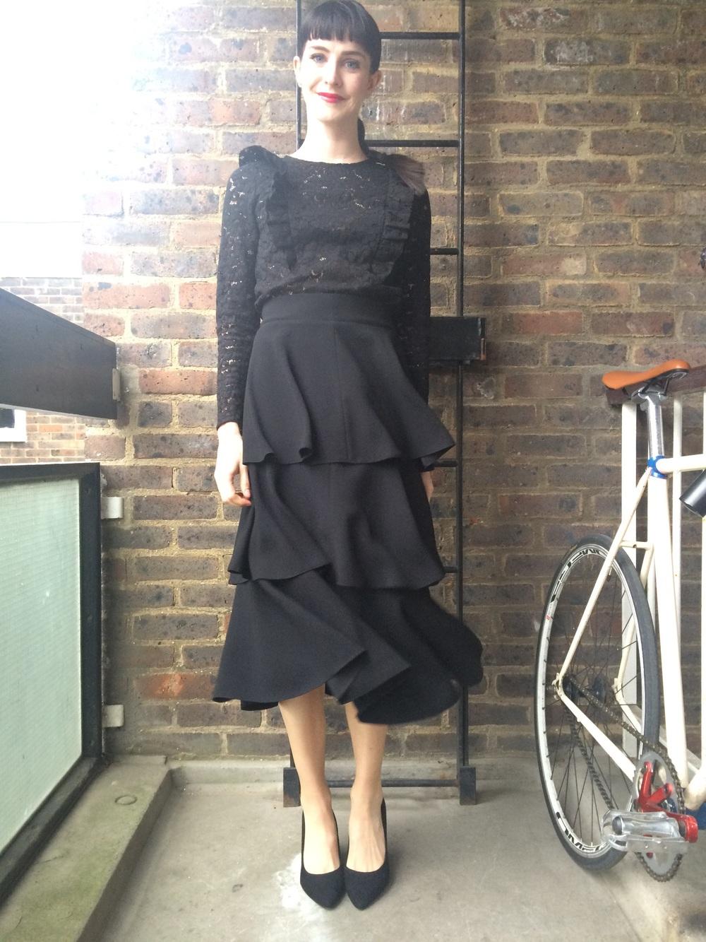 Me  Lace Top http://m.zara.com   Skirt http://m.zara.com
