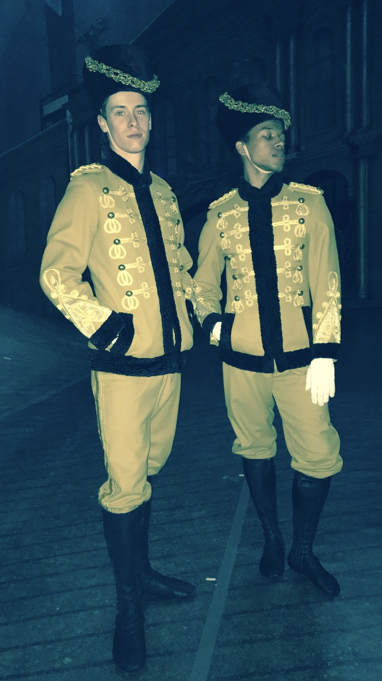 CALVIN AND SOLOMON AS SOLDIERS