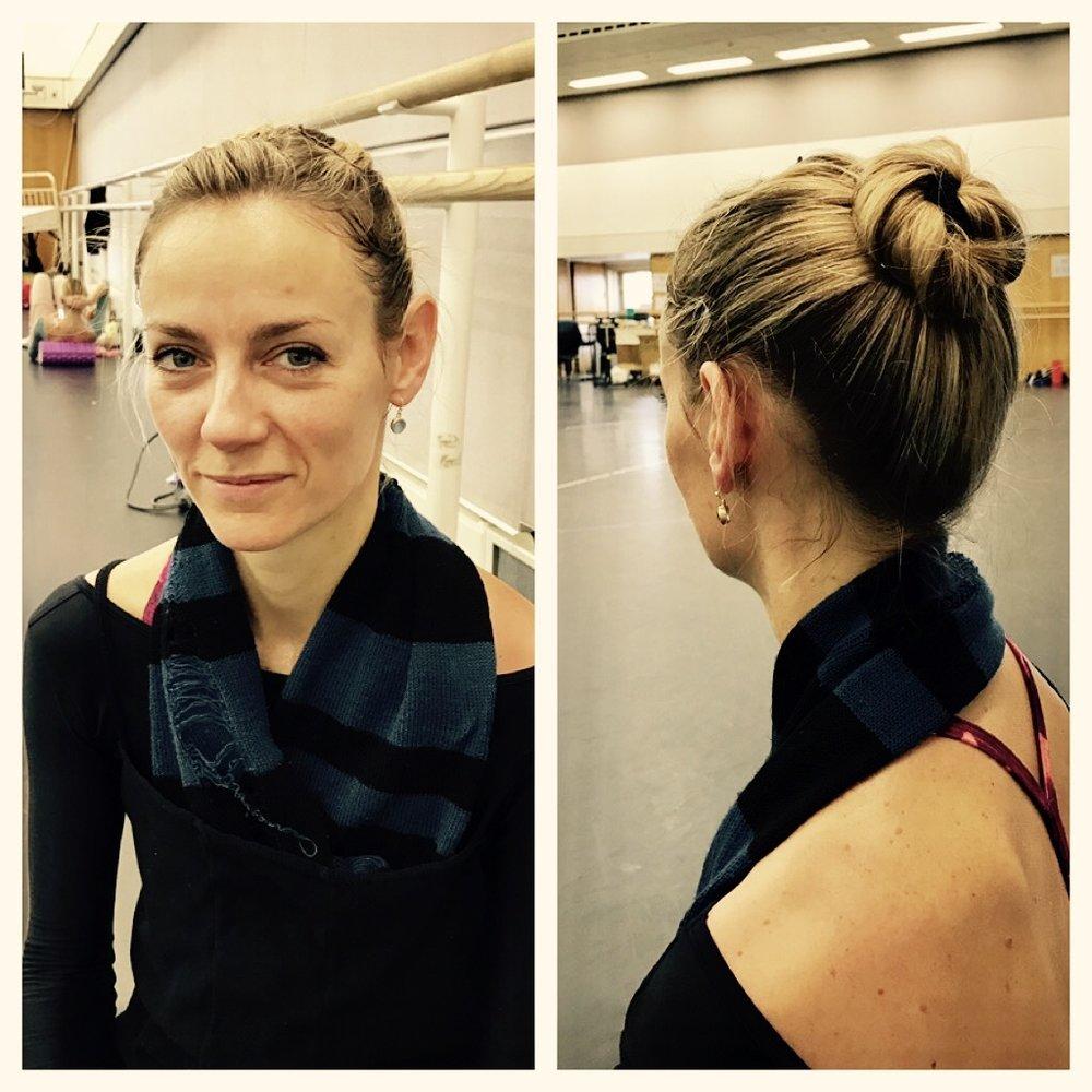 Helen in a classic ballerina bun