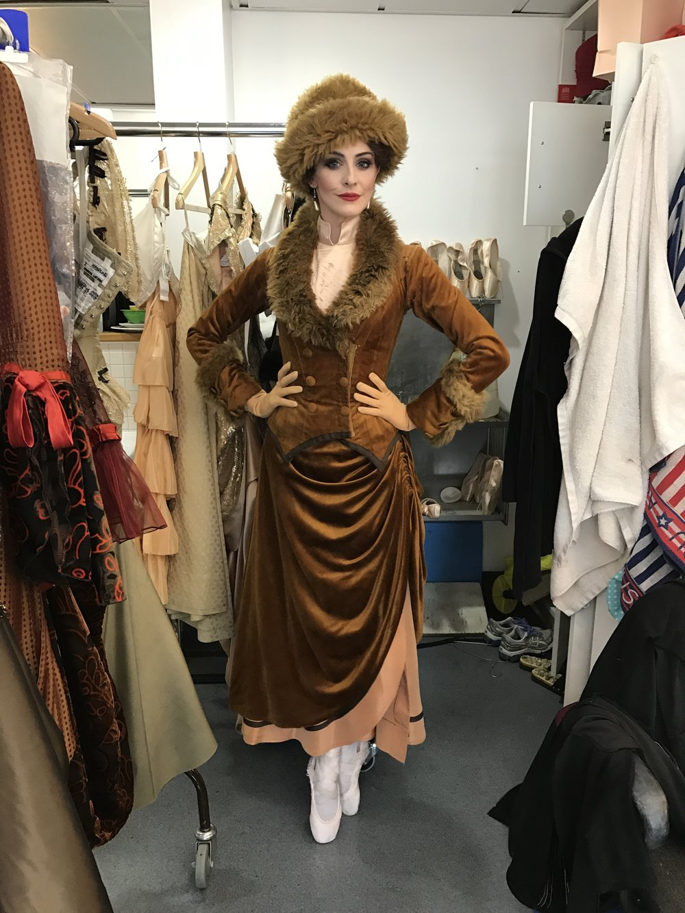 ACT THREE, SNOW SCENE. LOVE LOVE LOVE THIS OUTFIT! IT DOES GET QUITE HOT IN THERE AND IS VERY HEAVY BUT IT'S ALL WORTH IT FOR THIS GLAMOUR!