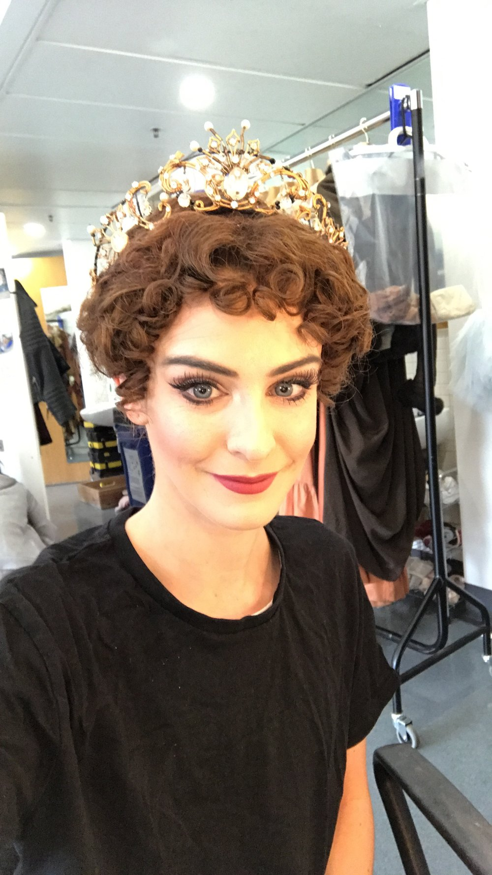 THIS WIG IS NOT THE MOST FLATTERING, BUT I KIND OF LOVE IT AS IT REALLY DOES PUT ME INTO MY ROLE - THE AMBITIOUS DESPERATE LADY THAT COUNTESS LARISCH IS.
