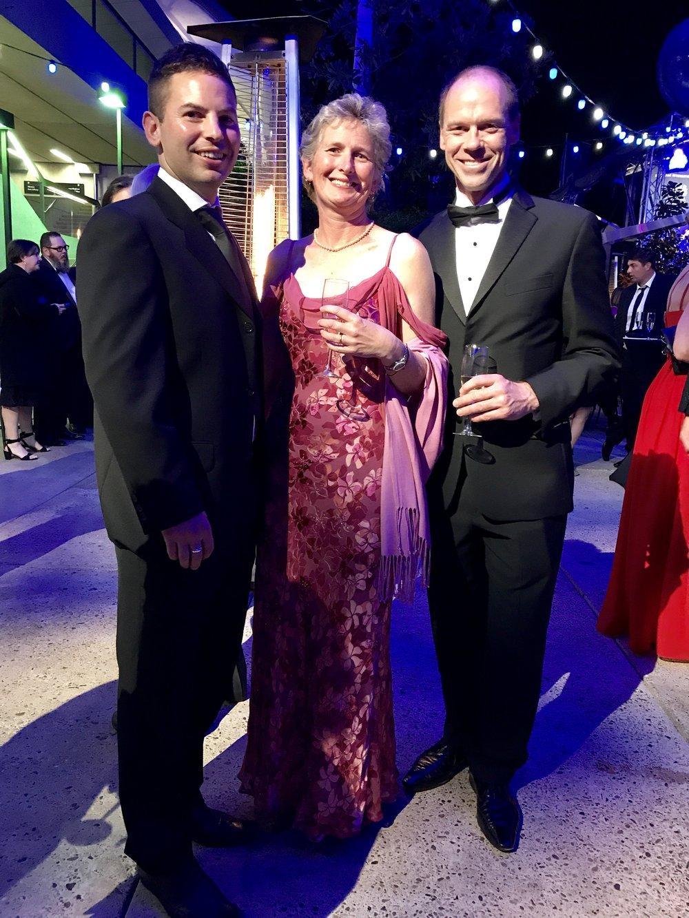 The superb physio team- Rob, Caryl & Greg