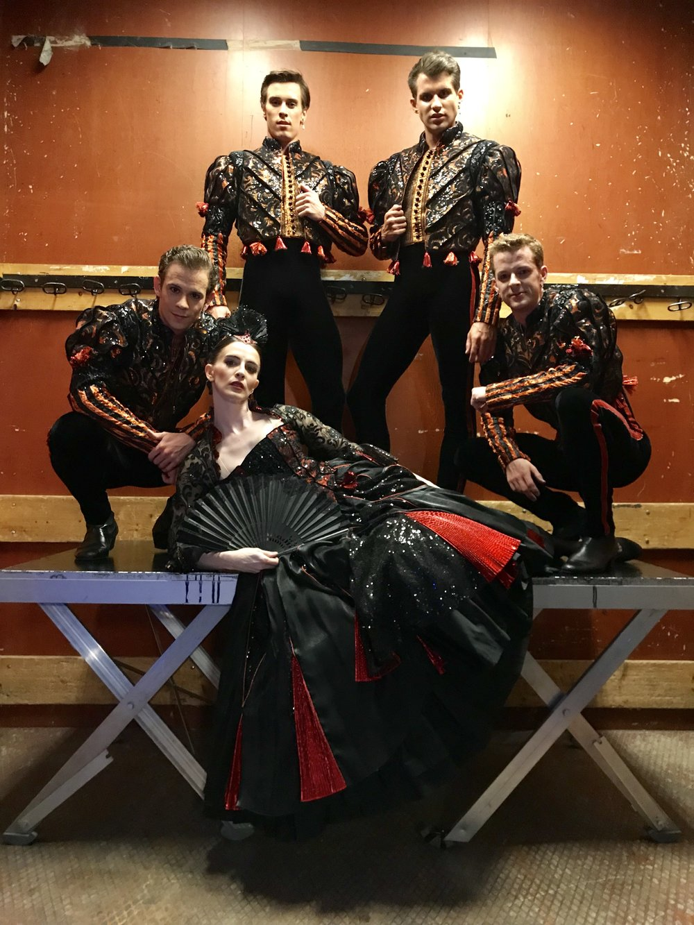 TOM, CALVIN, NICOL, KEVIN AND MYSELF IN THE SPANISH  ENSEMBLE