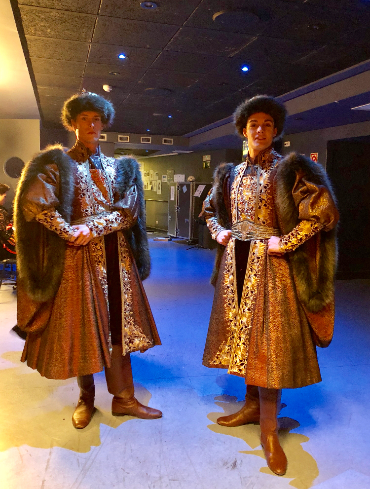 CALVIN AND DAVID IN MAZUKA COSTUMES