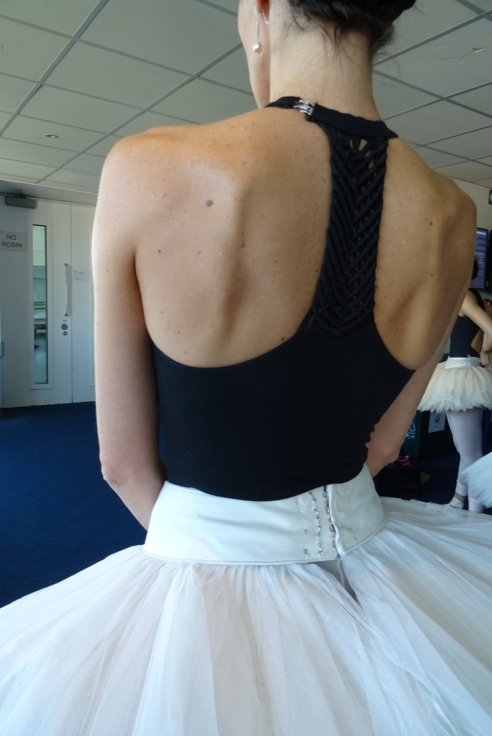 This leotard looks great with Itzi's beautiful broad shoulders     uk.blochworld.com