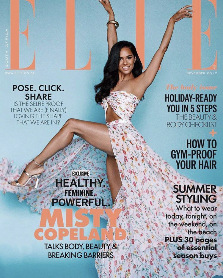 Gracing the cover of Elle Magazine.