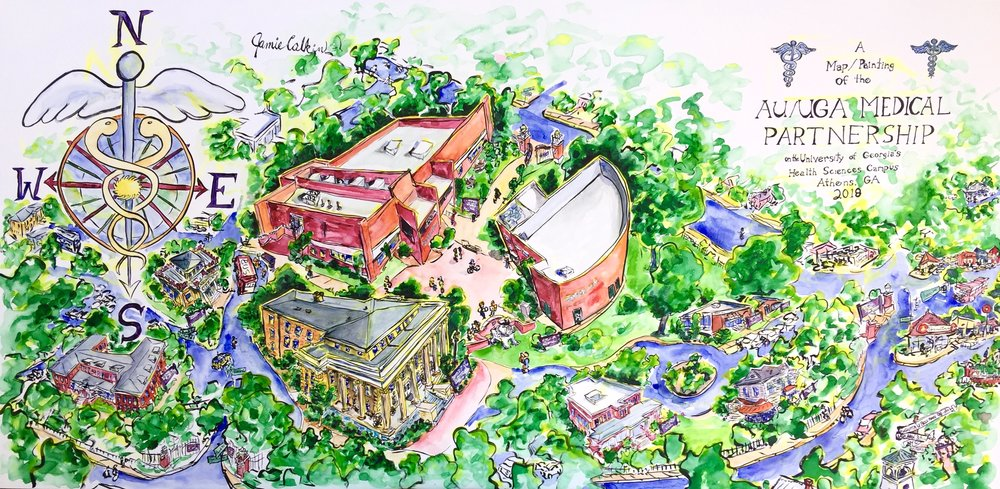Uga Health Sciences Campus Map.Au Uga Medical Partnership Timelapse Jamie Calkin