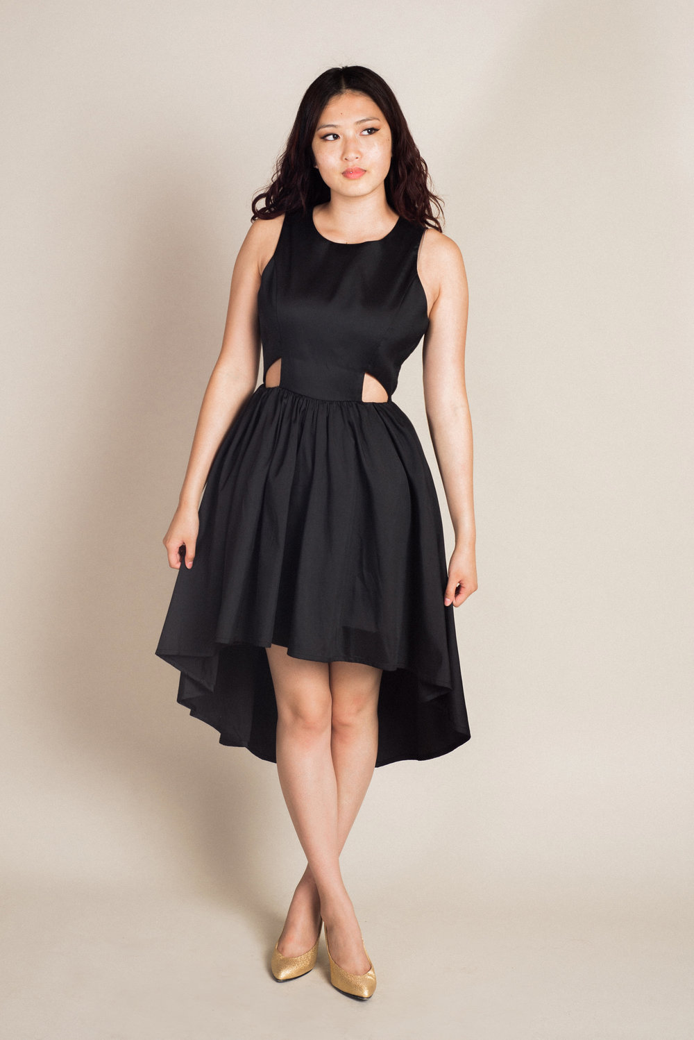 Black Hi-Lo Dress (M) | Modeled by Makenzy
