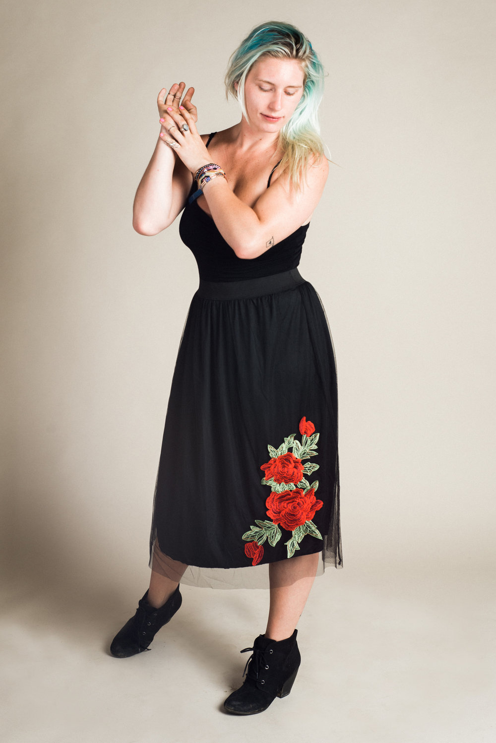 Black Tulle Skirt (S-L) | Modeled by Sarah