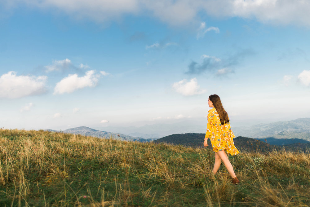 Adventure Senior Photography on a mountain, Asheville, NC, Sarah Hooker Photography