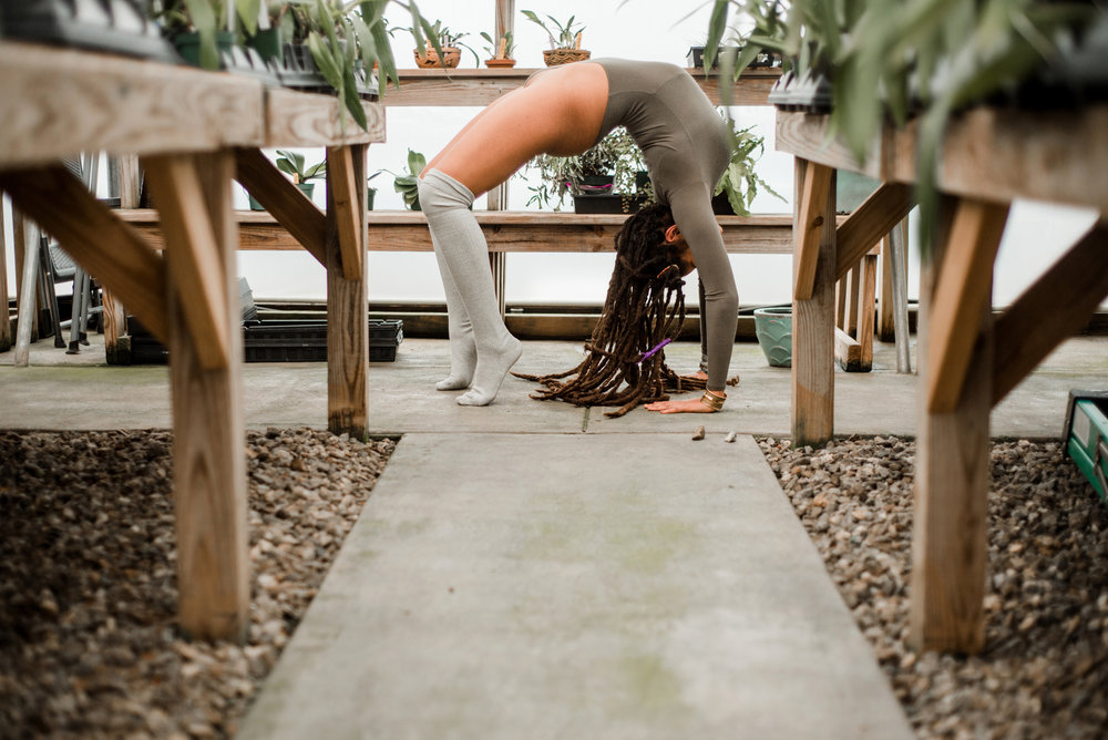Greenhouse boudoir photography in Asheville, NC by Sarah Hooker Photography