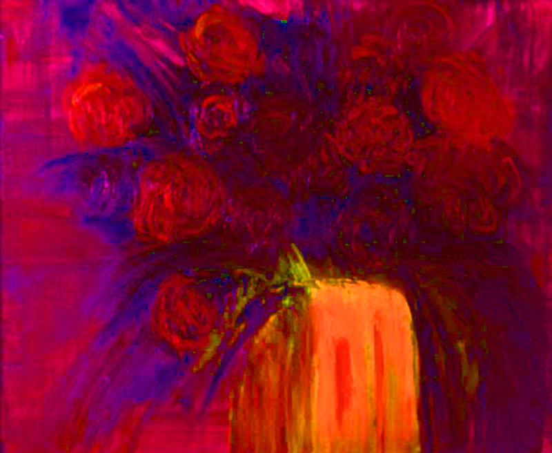 'MAD RED FLOWERS- 2'