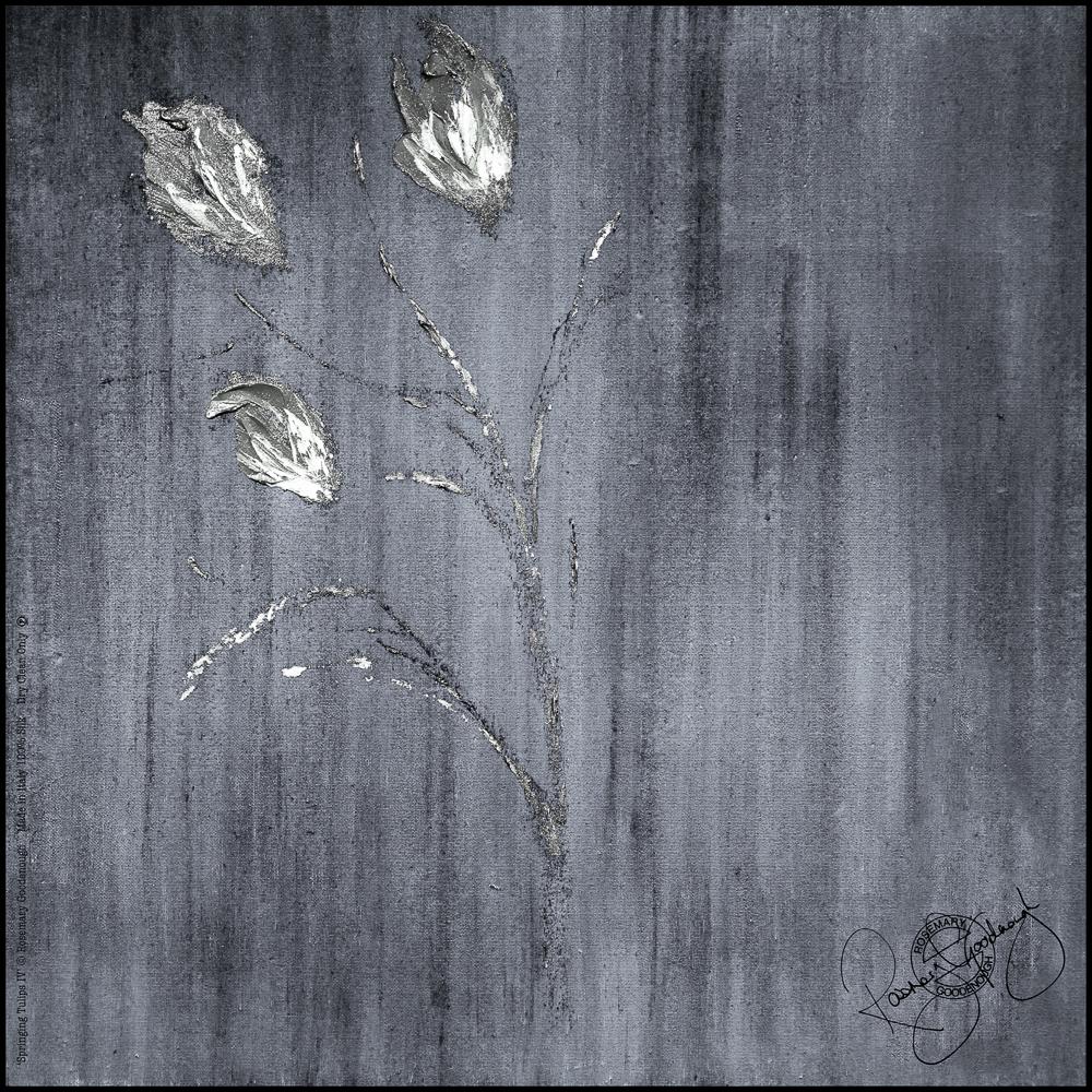 'SPRINGING TULIPS IV', 45X45CM