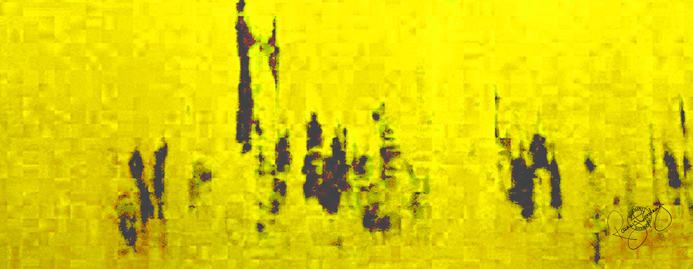 'PARLIAMENT DAWN' LIME YELLOW, VELVET, 180X65CM