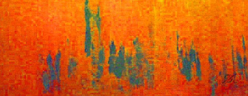 'PARLIAMENT DAWN', BURNT ORANGE, VELVET, 180X65CM