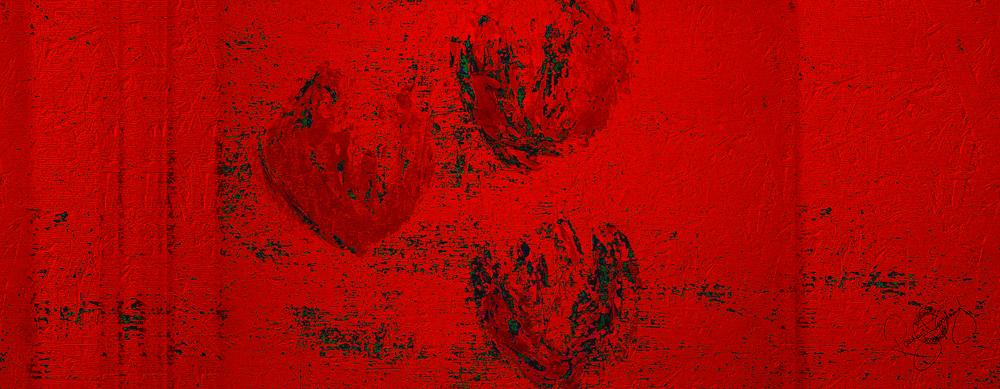 'FLOATING TULIPS', CRAZY RED, VELVET, 180X65CM