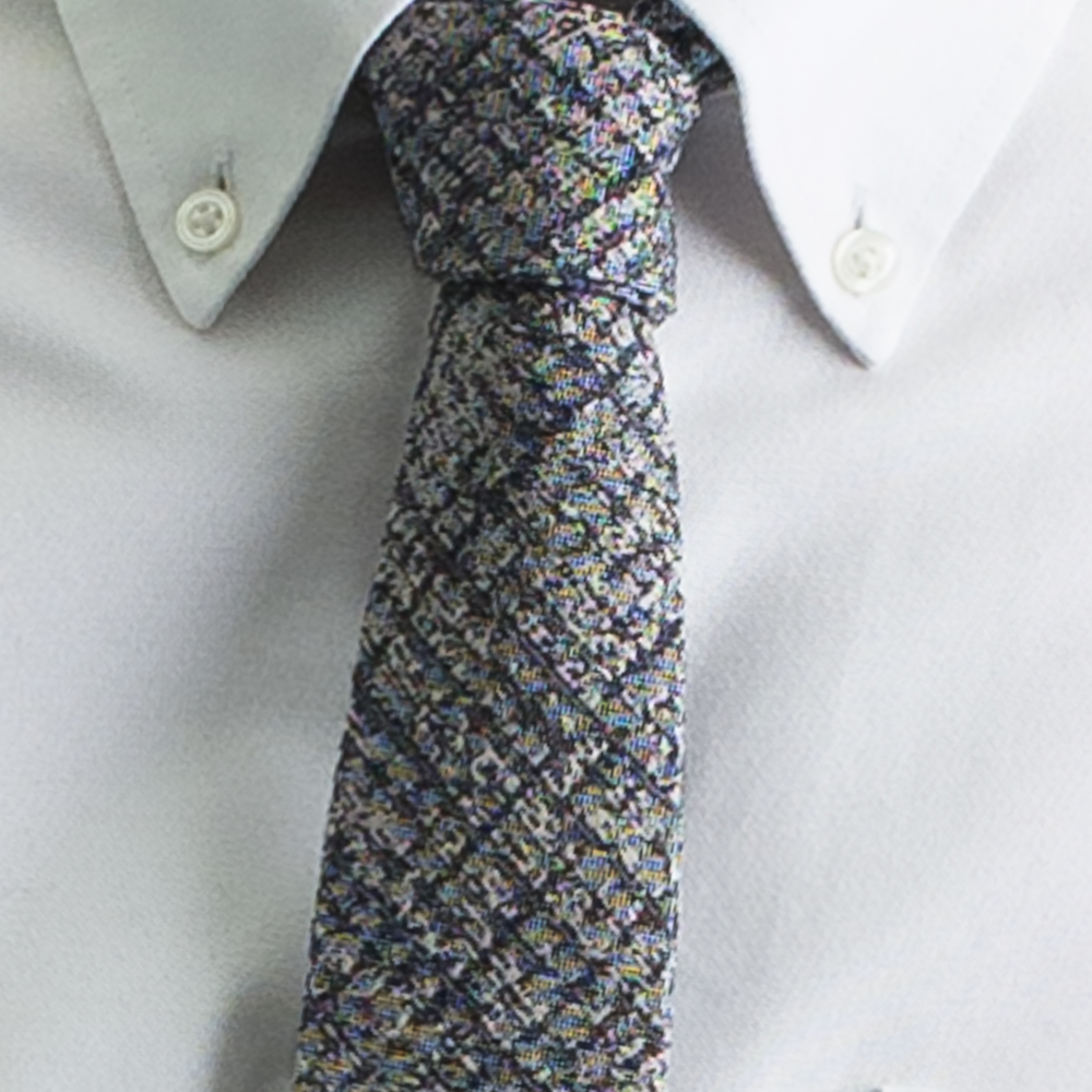 Rosemary Goodenough Man Woven Wool/Silk Tie 'Flightcheck'