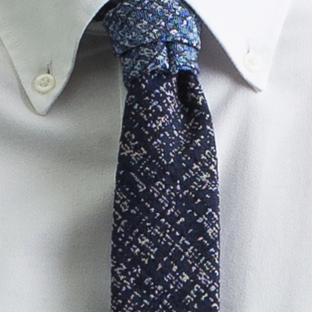 Rosemary Goodenough Man Woven Wool/Silk Tie 'Pilot's Sky'