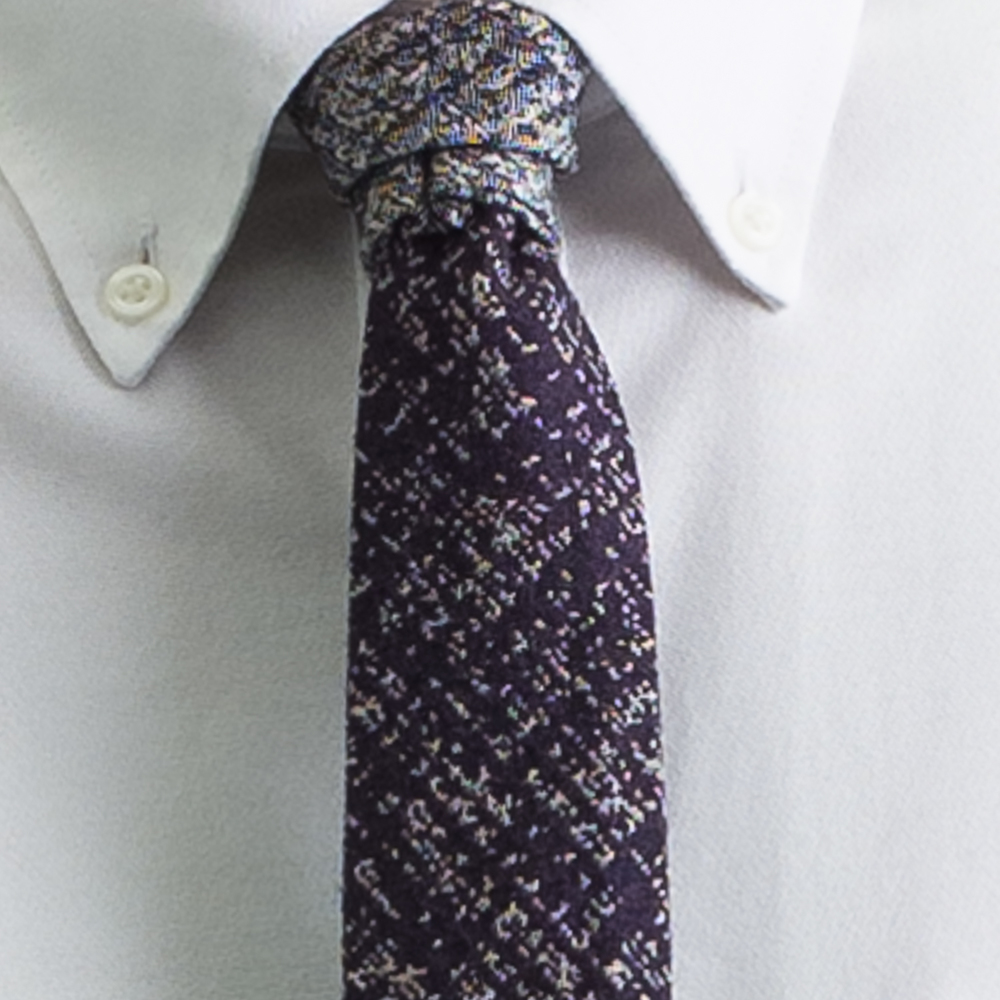 Rosemary Goodenough Man Woven Wool/Silk Tie 'Pathfinder'