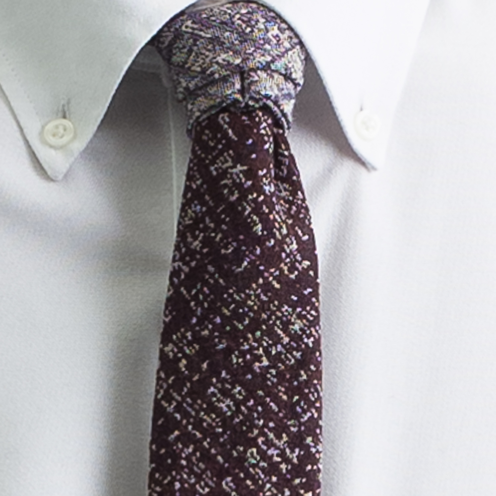 Rosemary Goodenough Man Woven Wool/Silk Tie 'Jock's Away'