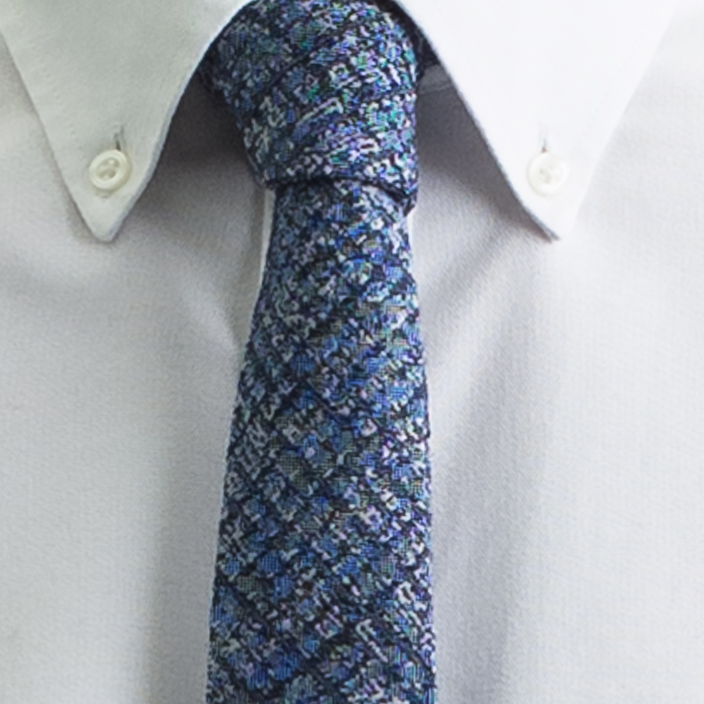 Rosemary Goodenough Man Woven Wool/Silk Tie 'Flying Blue'