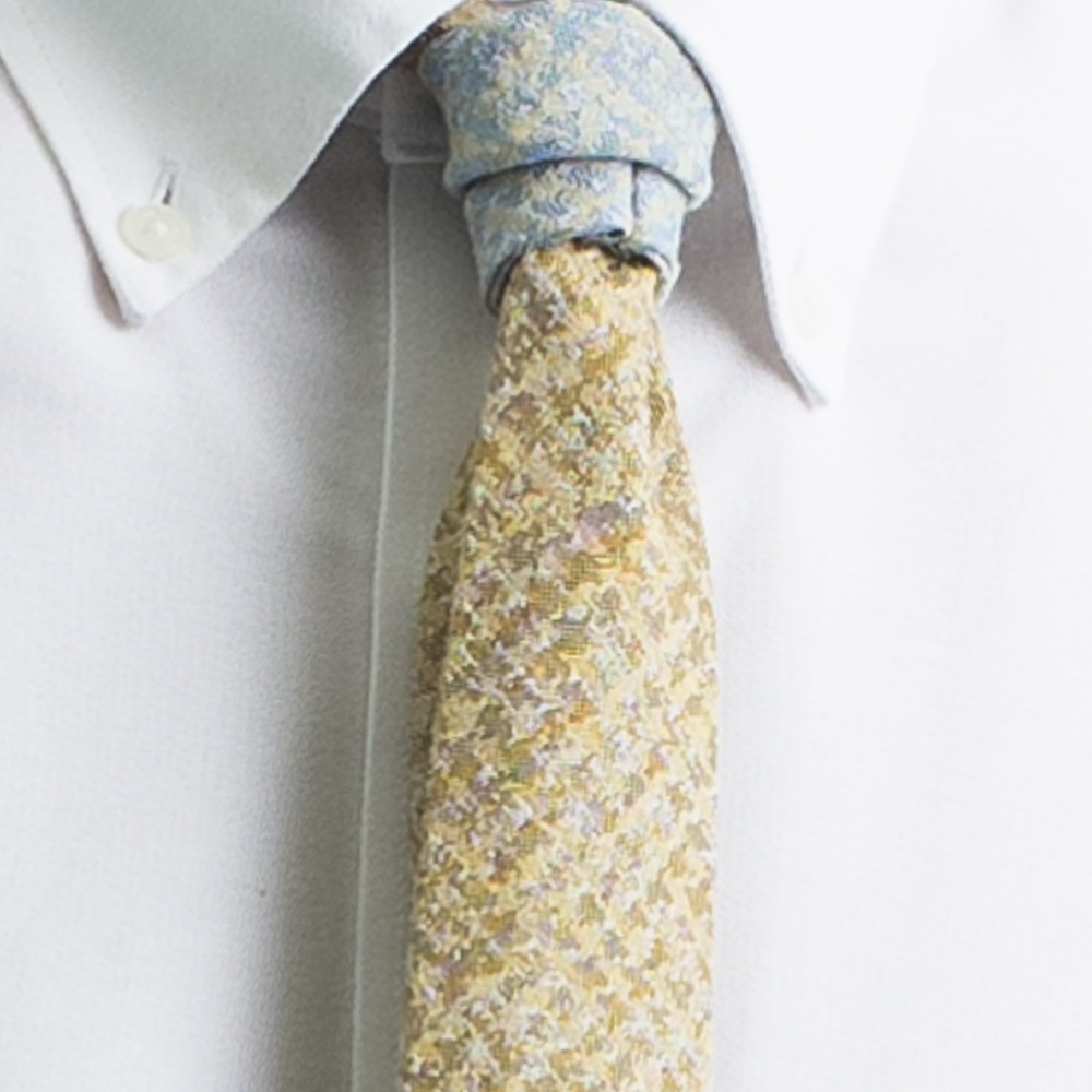 Rosemary Goodenough Man Woven Wool/Silk Tie 'Flight Plan'