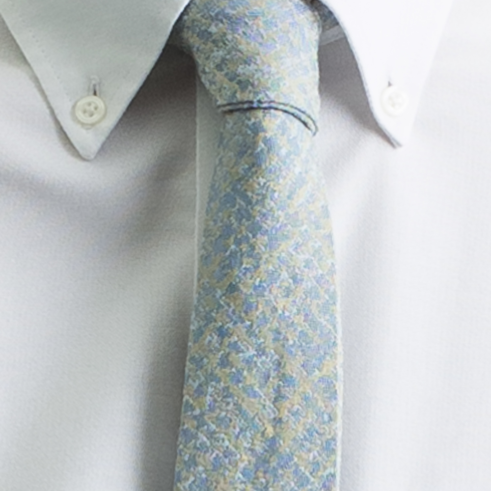 Rosemary Goodenough Man Woven Wool/Silk Tie 'Jetstream'
