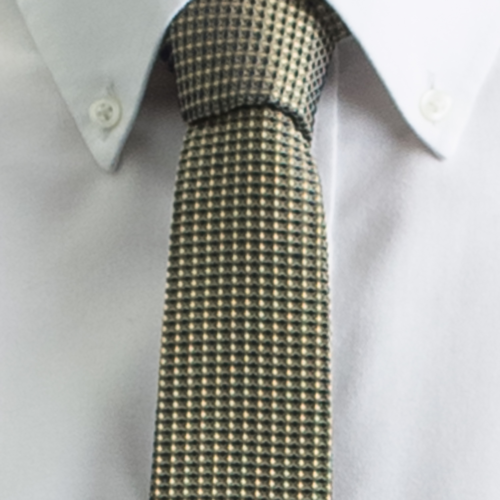 Rosemary Goodenough Man Woven Silk Tie 'Yellow Fever'