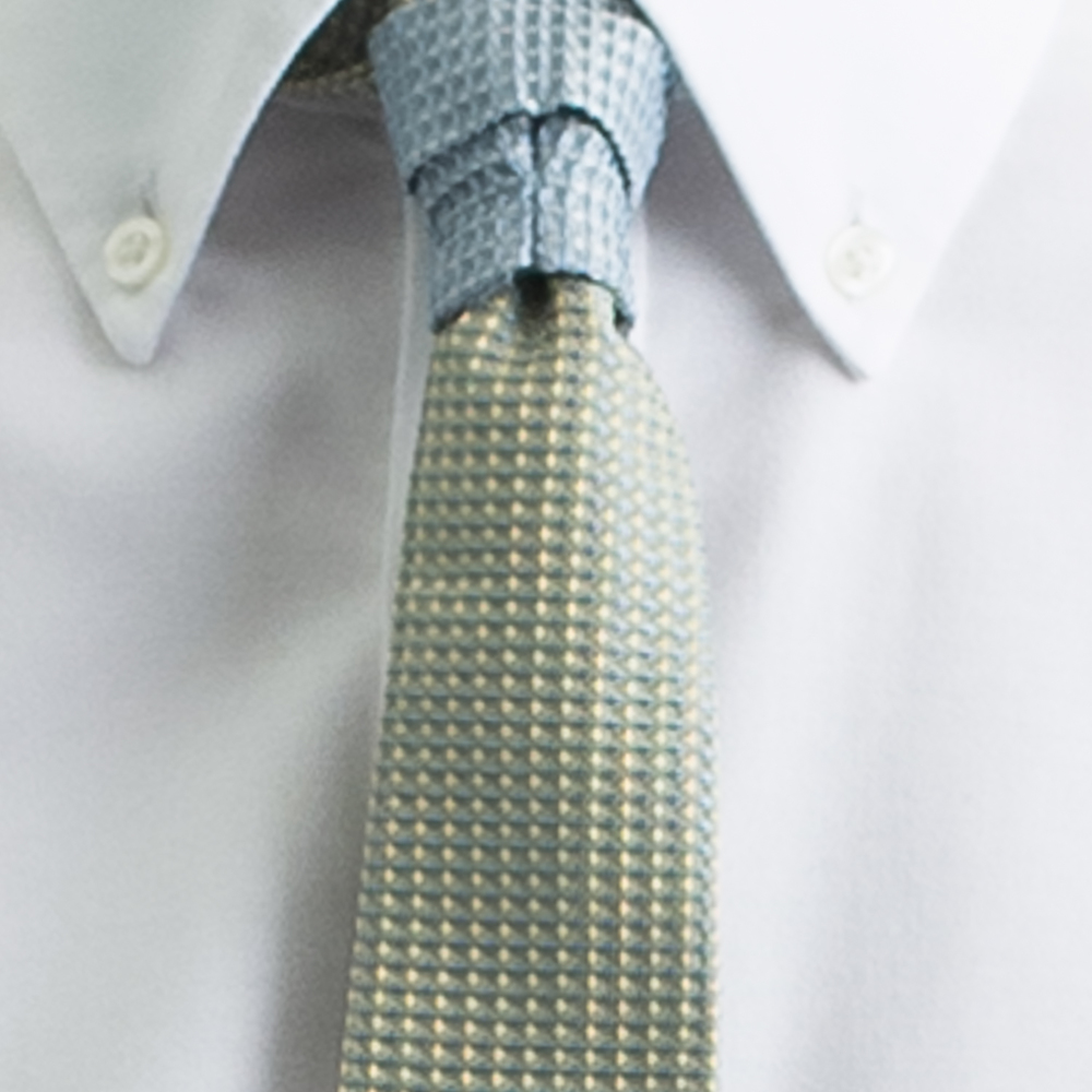 Rosemary Goodenough Man Woven Silk Tie 'Yellow River'