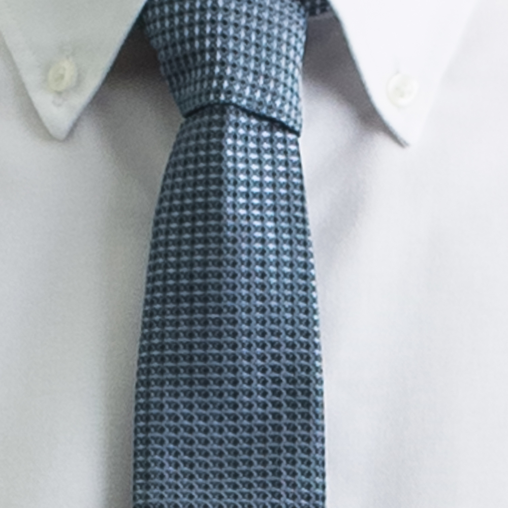 Rosemary Goodenough Man Woven Silk Tie 'Blue Yonder'