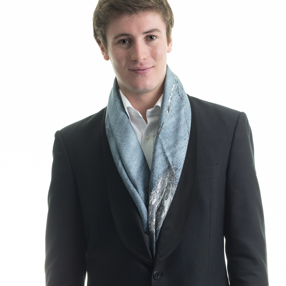Rosemary Goodenough Man 'Springing Tulips IV' Scarf.jpg