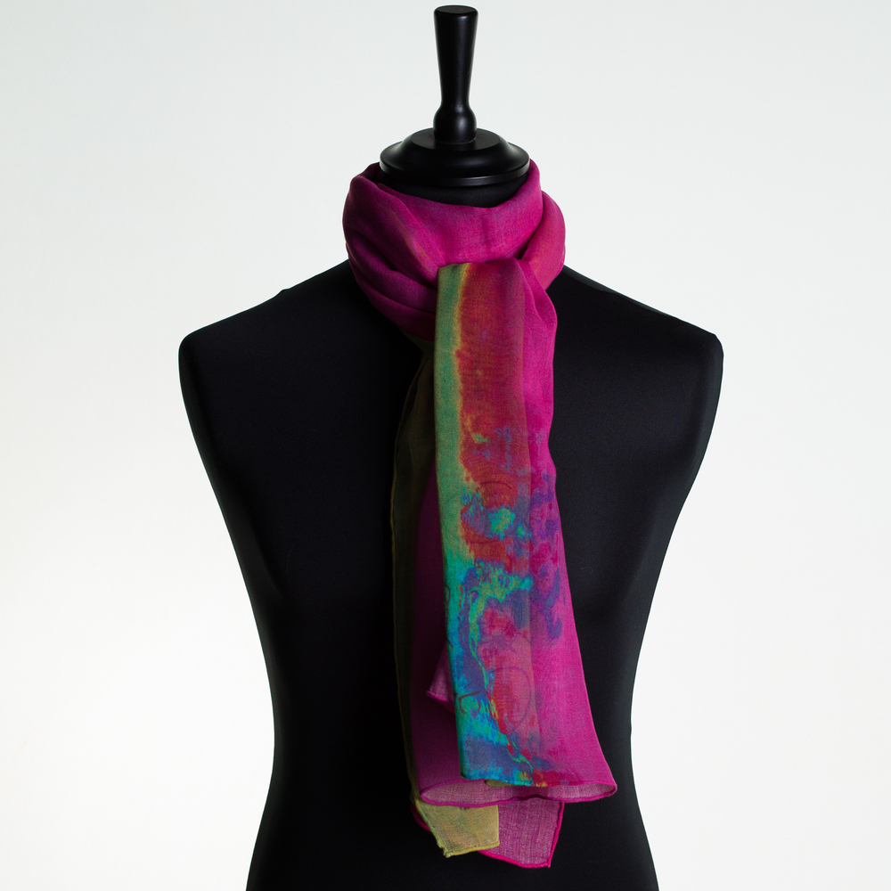 'HOT CITY' IX PURE COTTON SCARF
