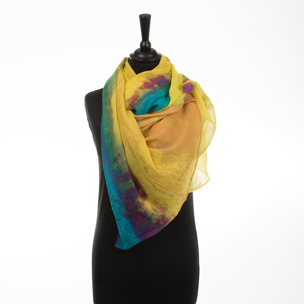 'HOT CITY' V PURE COTTON SCARF