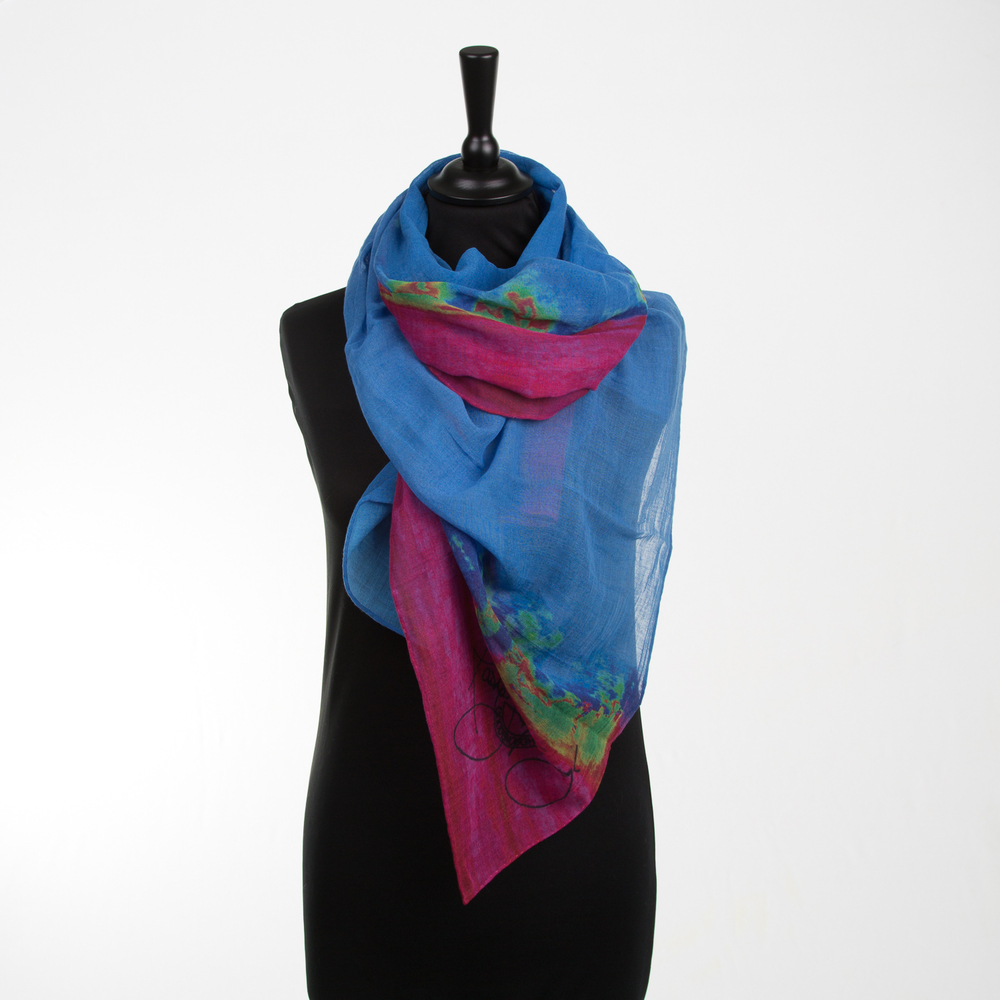 'HOT CITY' VI PURE COTTON SCARF