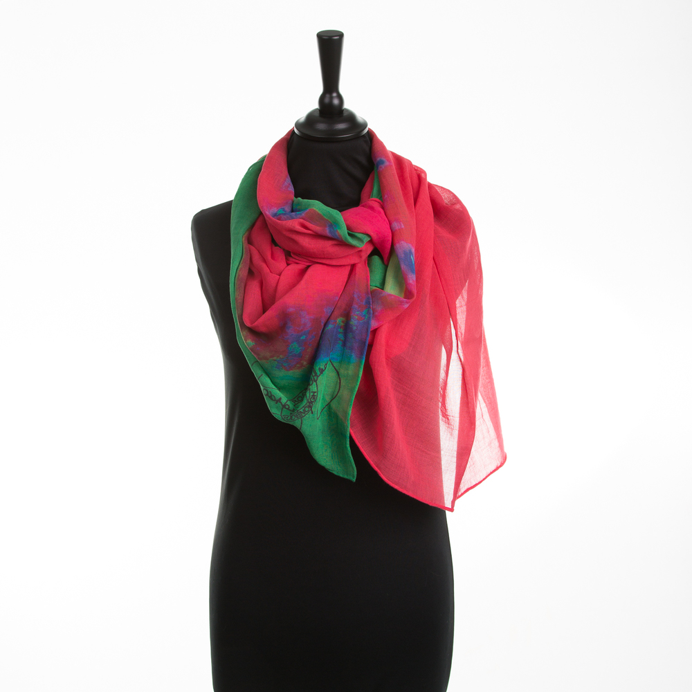 'HOT CITY' VIII PURE COTTON SCARF
