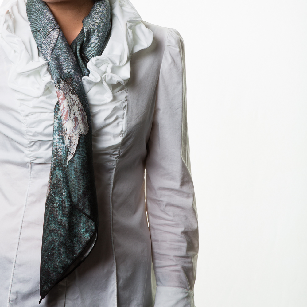 'Springing Tulips X' Rosemary Goodenough Silk Twill Scarf_.jpg
