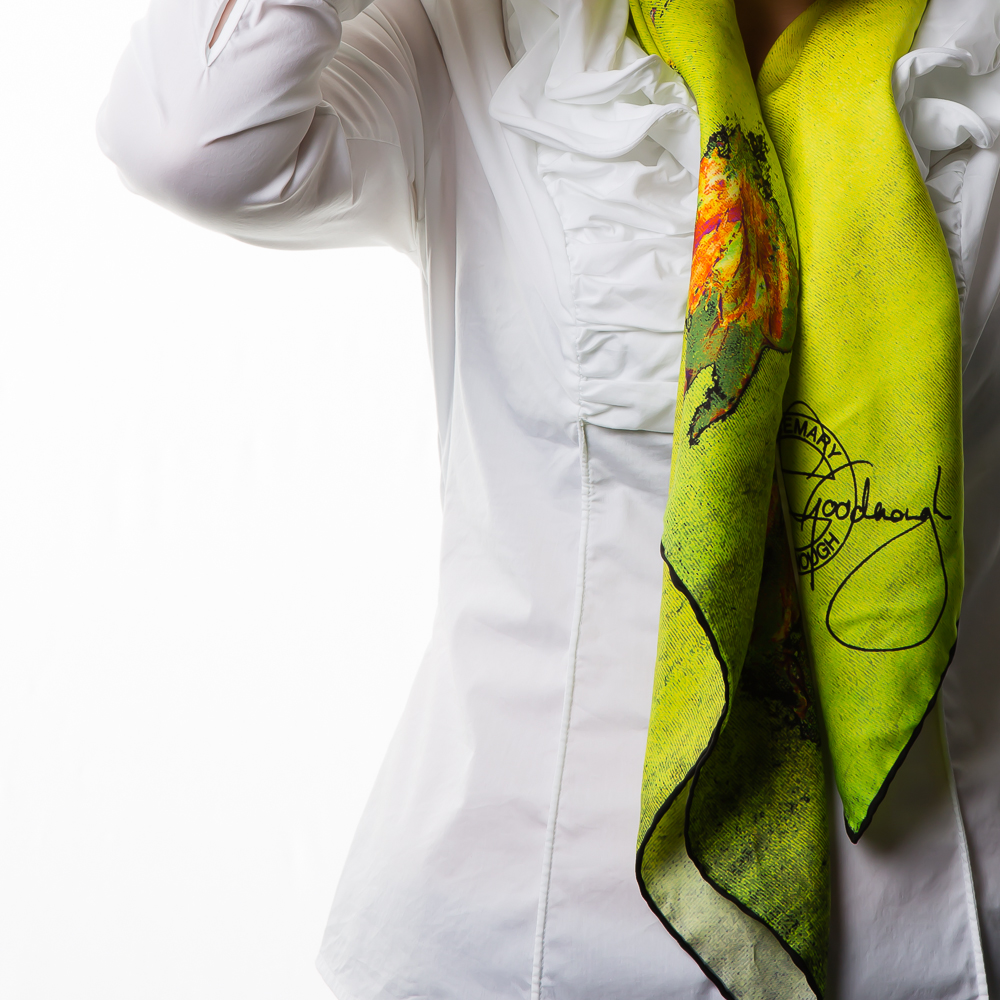 'Springing Tulips XIX' Rosemary Goodenough Silk Twill Scarf_.jpg