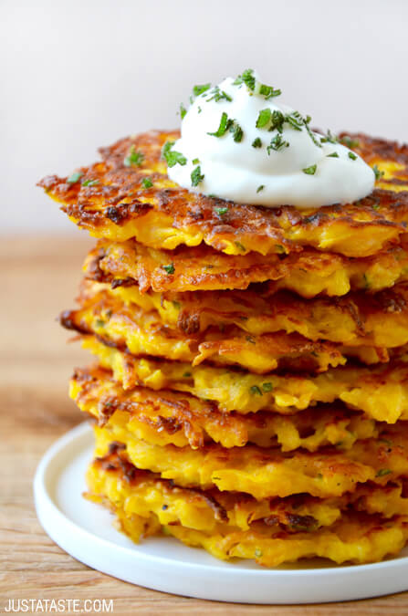 5-Ingredient Butternut Squash Fritters from Just a Taste
