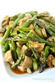 Asparagus and Mushroom Stir-Fry from The Garden Grazer
