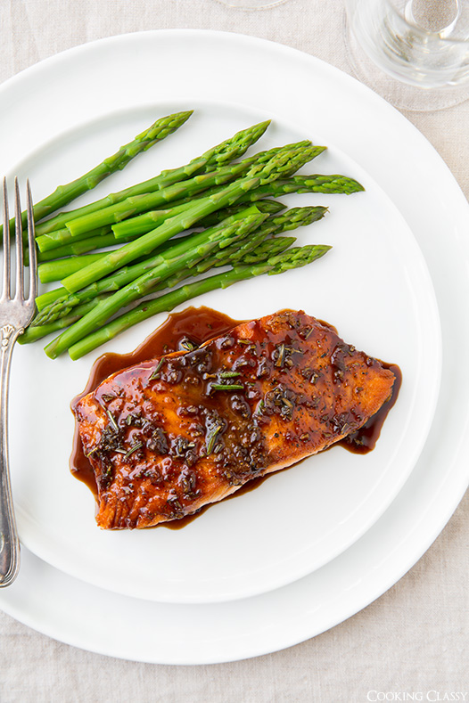Balsamic Glazed Salmon from Cooking Classy
