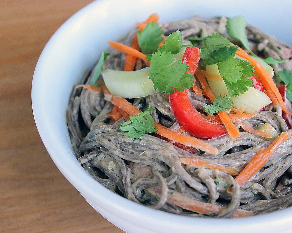 Soba Noodle Salad with Ginger Peanut Dressing from Popsugar