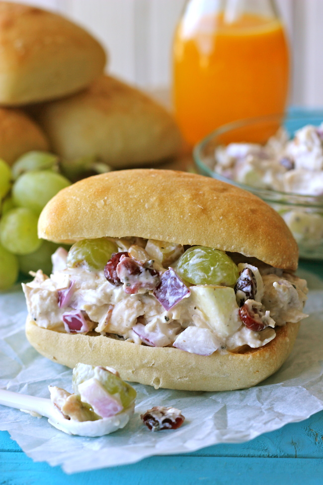 Greek Yogurt Chicken Salad Sandwiches from Damn Delicious