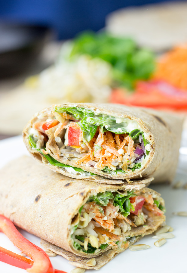 Tangy Veggie Wrap from Hurry the Food Up