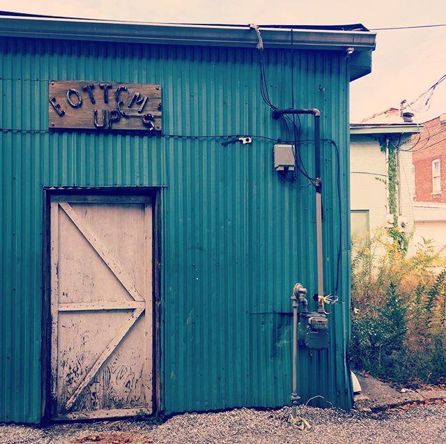 Bottoms Up! 🍻🍷#turquoise #door #SmallTownLife
