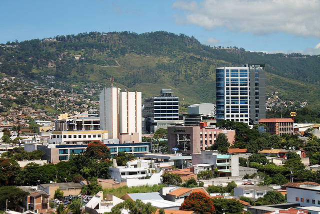 The capital Tegucigalpa, Honduras